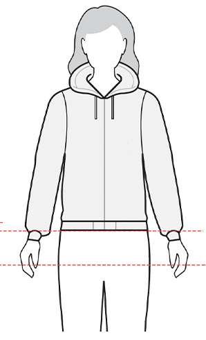 measurement womens jacket