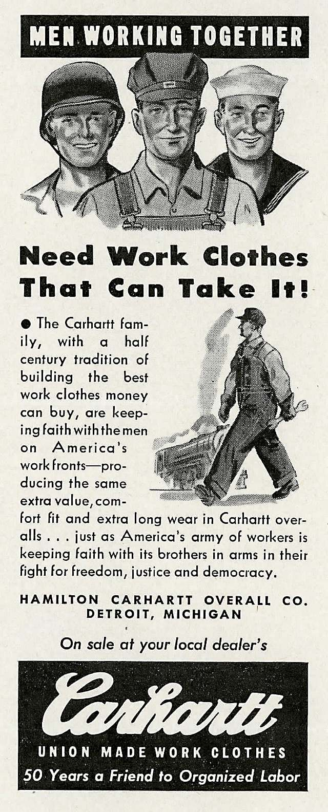 Carhartt ad, November 1943