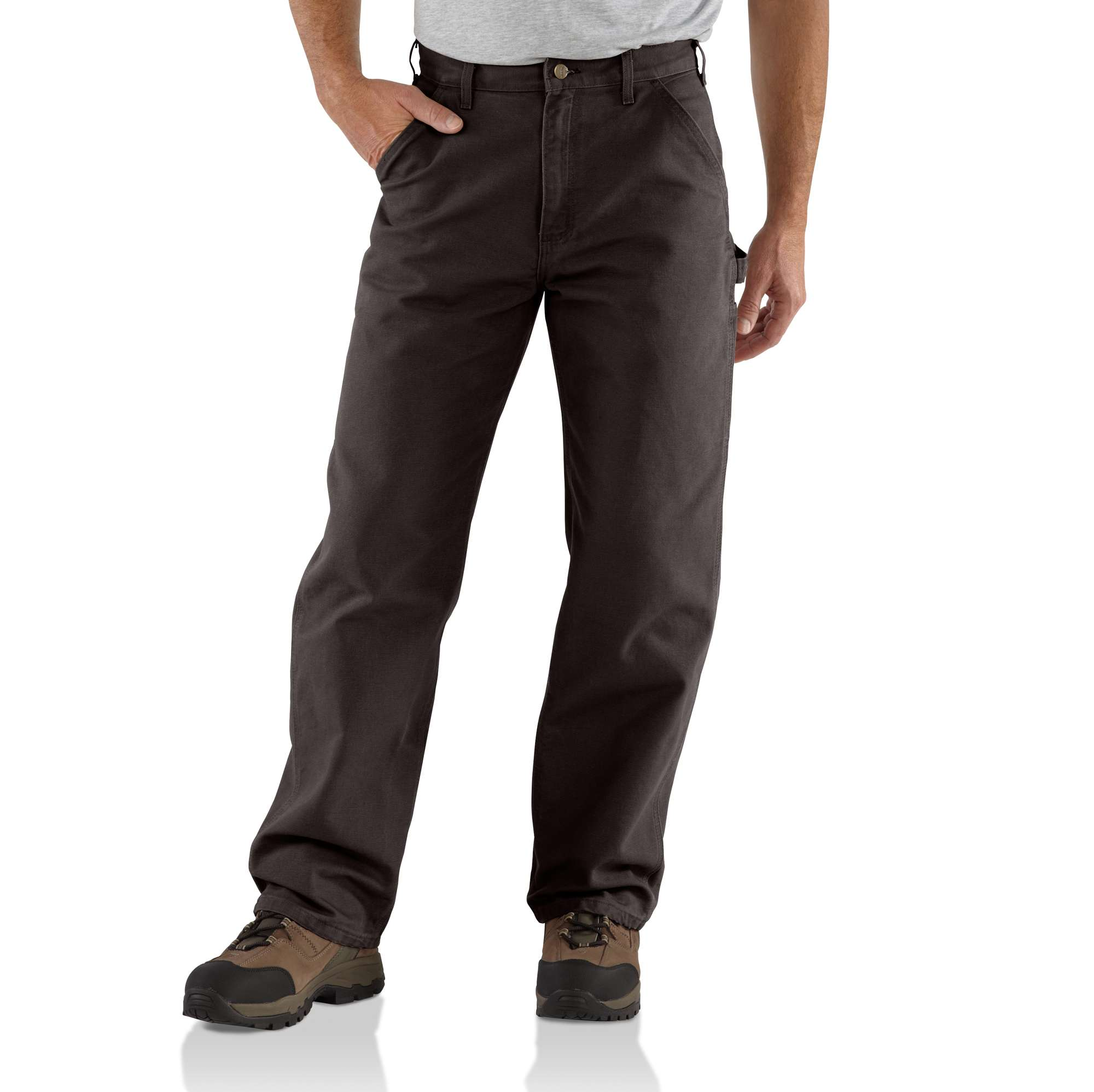 Carhartt Men/'s Trousers Washed Duck Multipocket Work Cargo Pant New