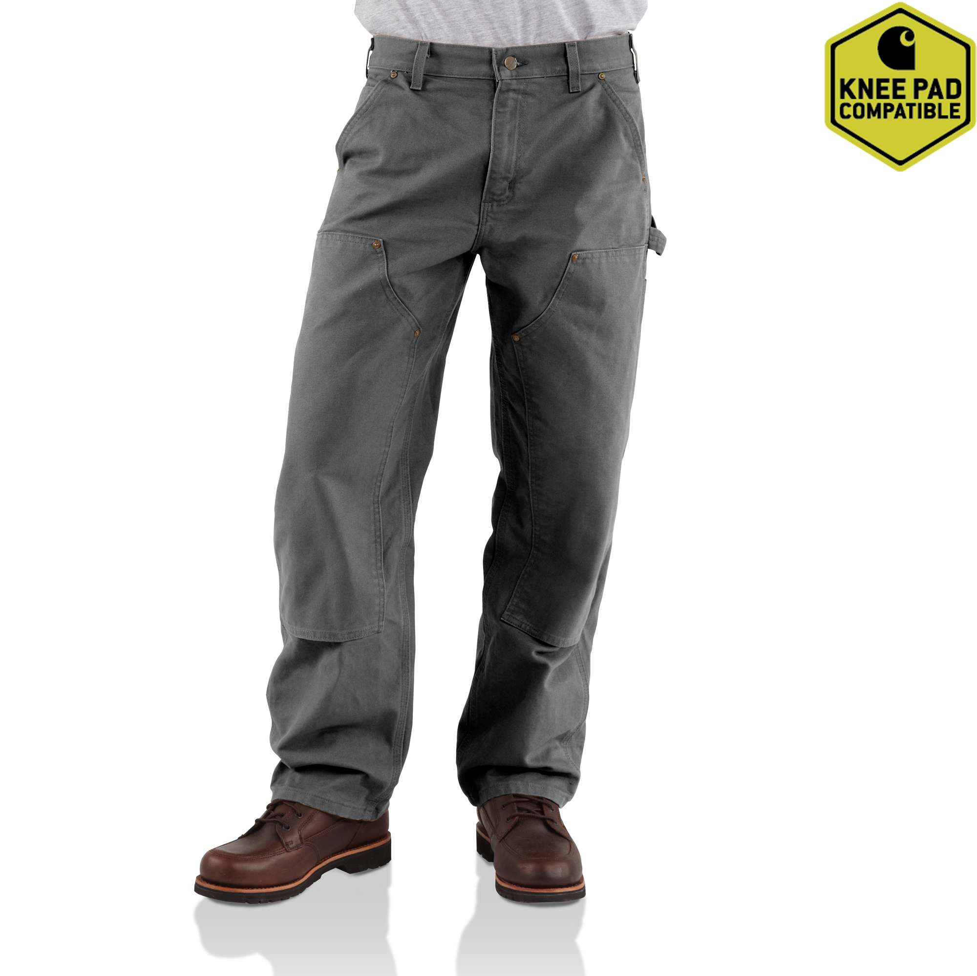 8daebae565bb Men s Washed-Duck Double-Front Work Dungaree B136