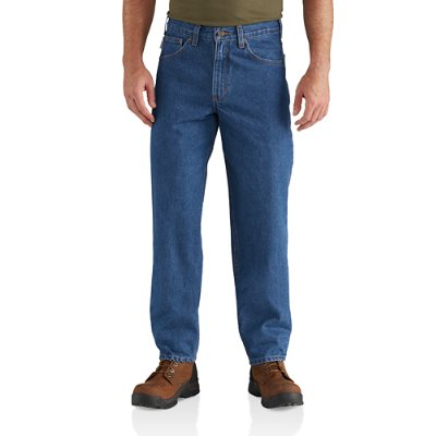 RELAXED-FIT TAPERED-LEG JEAN - 38 inch tall inseam