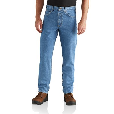 Carhartt Menu0027s Stonewash Straight/Traditional Fit Tapered Leg Jean   Front  ...