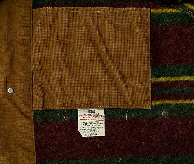 Carhartt's original blanket lining