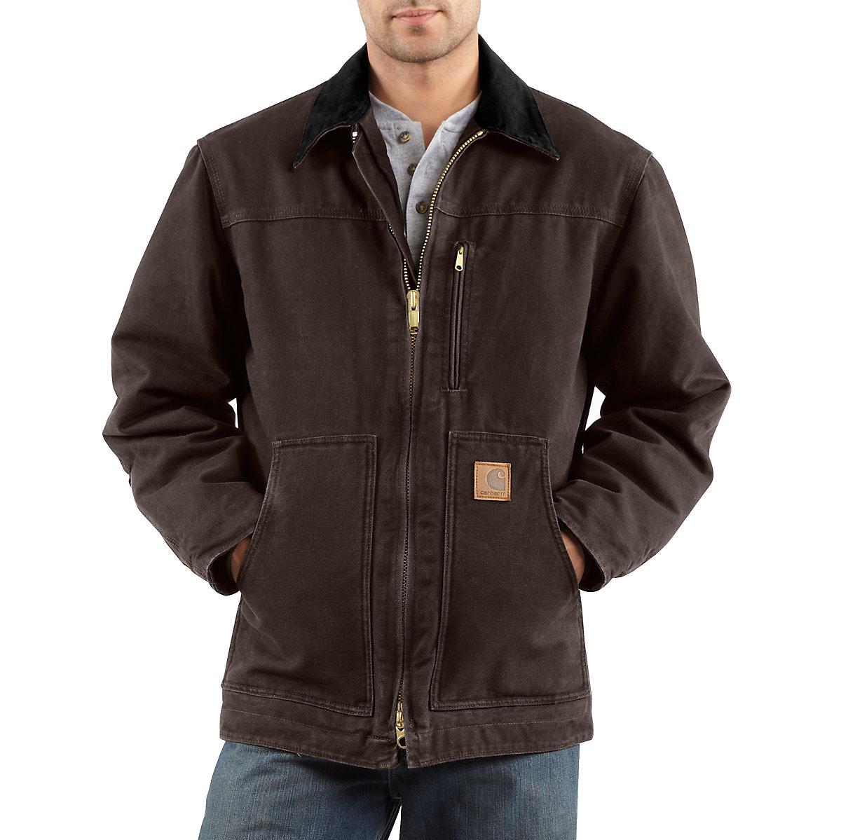 Men S Sandstone Ridge Coat Sherpa Lined C61 Carhartt