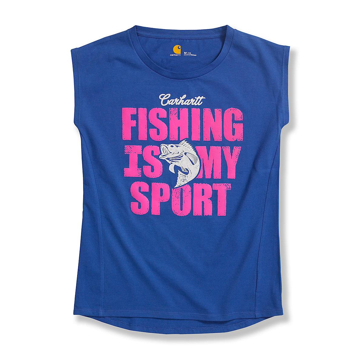 Girls 39 fishing is my sport cap sleeve t shirt out ca9263 for Girls fishing shirts
