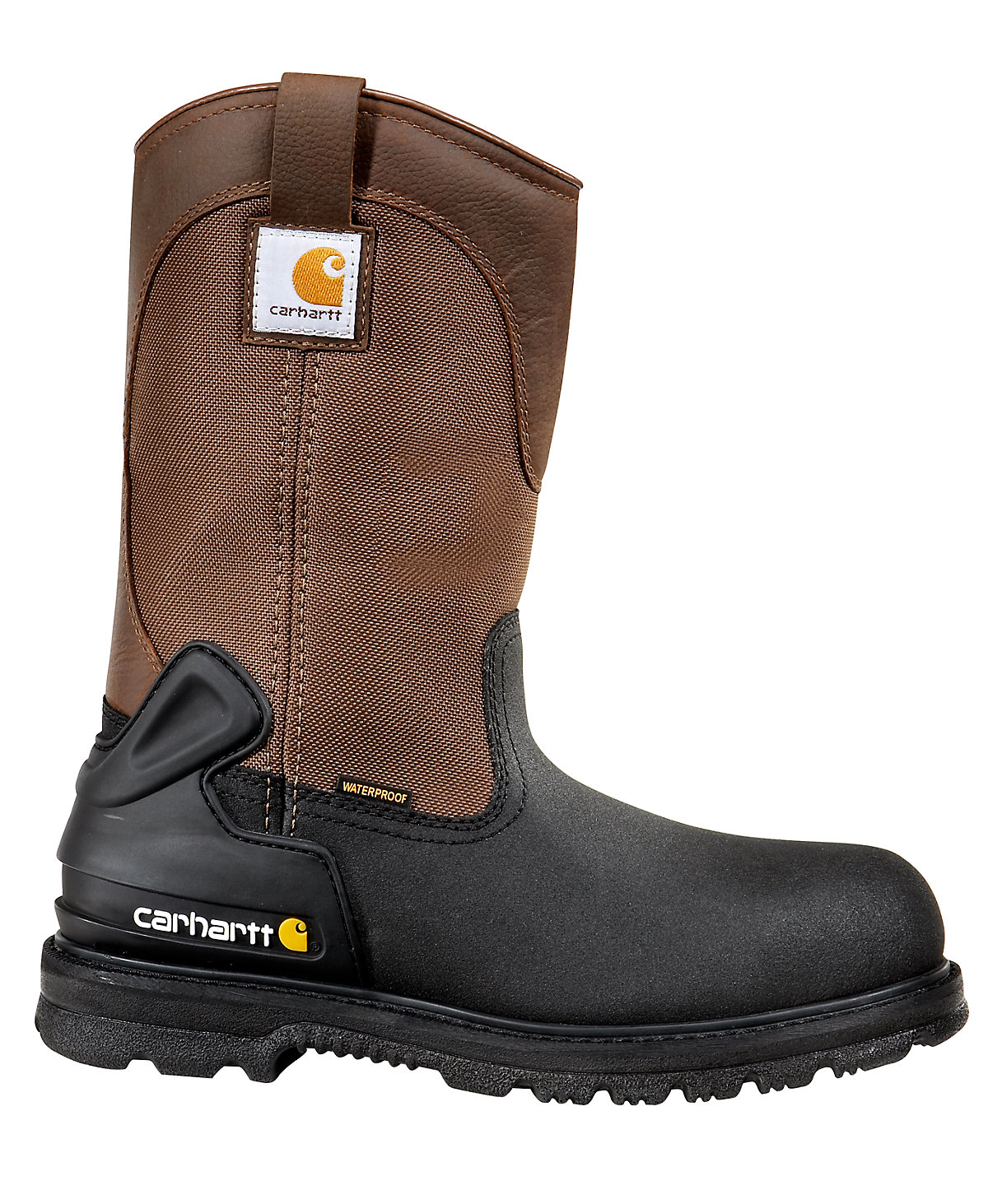 s 11 inch brown black insulated safety toe wellington