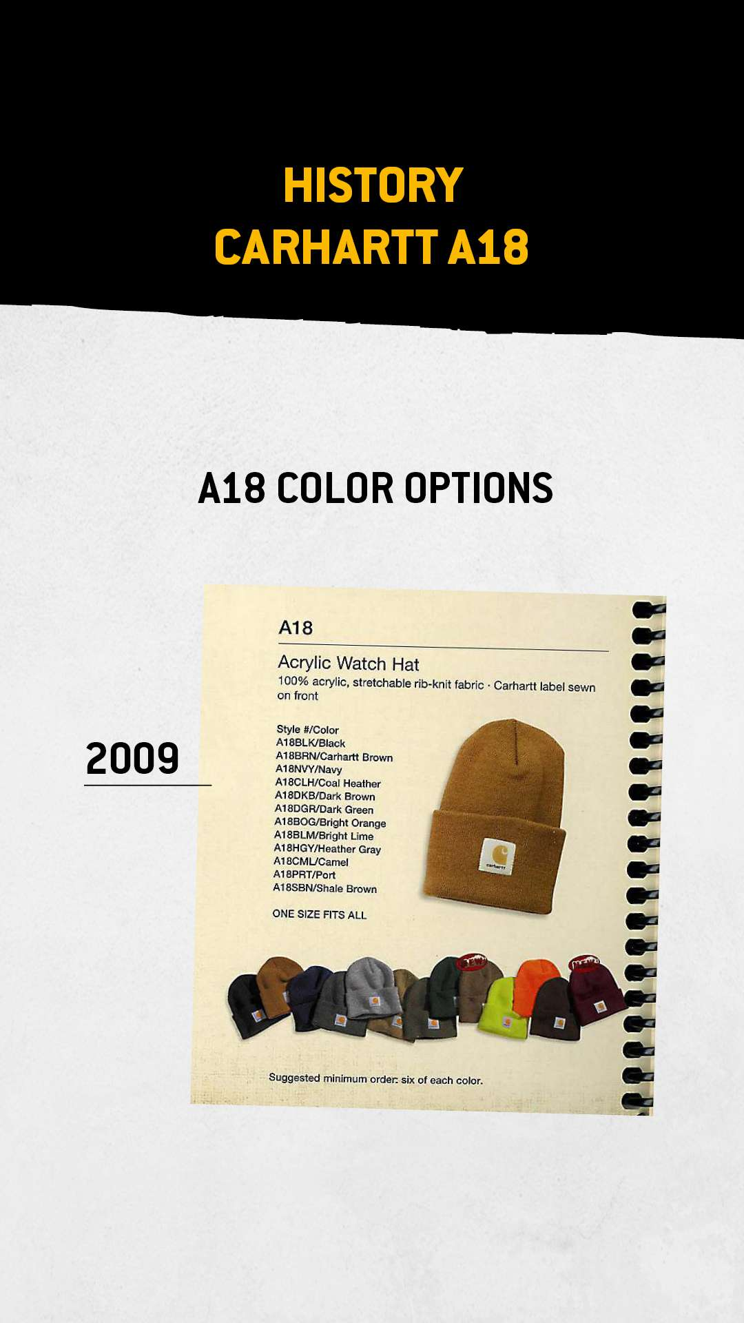 A18 color options, 2009