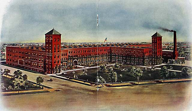 Artist rendering of Detroit factory, circa 1925