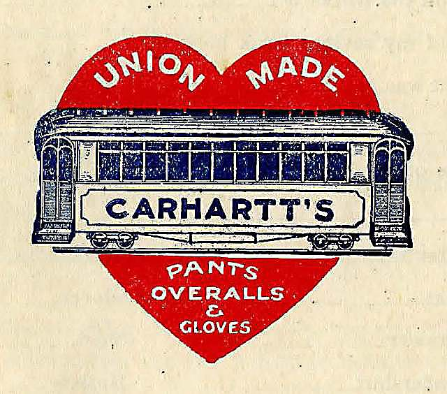 'Car in Heart' with block lettering, 1900s