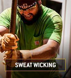 sweat wicking. fastdry tech wicks away sweat when you're working hard