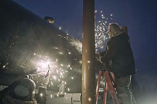 2016 Reenactment of Pipeline Construction