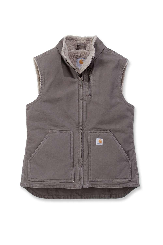 Carhartt Womens Sandstone Mock Neck Vest i gruppen Kläder & Utrustning / Kläder / Västar hos Blixt&Dunder AB (CA-WV001r)