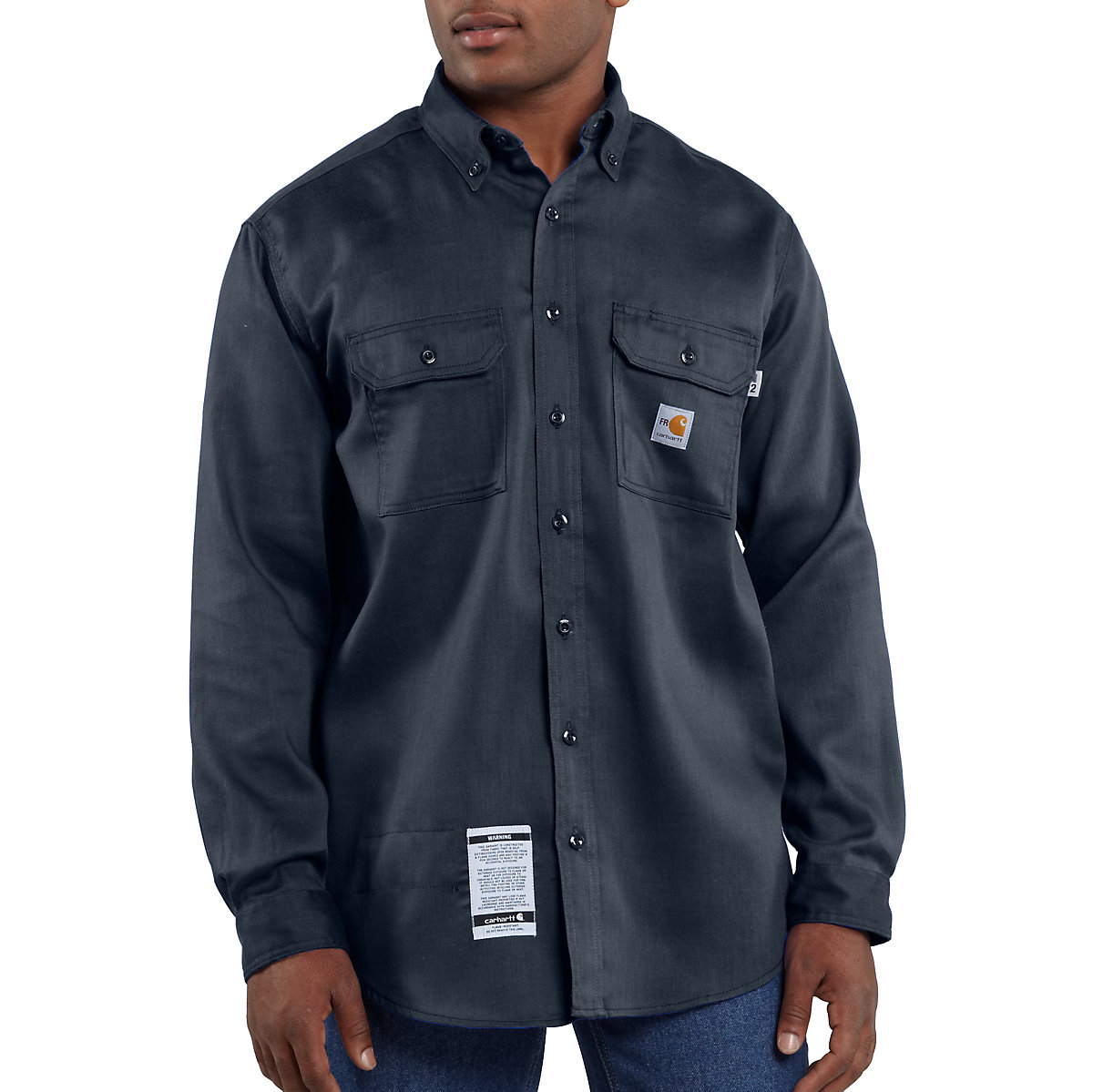 Carhartt Light Work Jacket: Men's Flame-Resistant Lightweight Twill Shirt FRS003