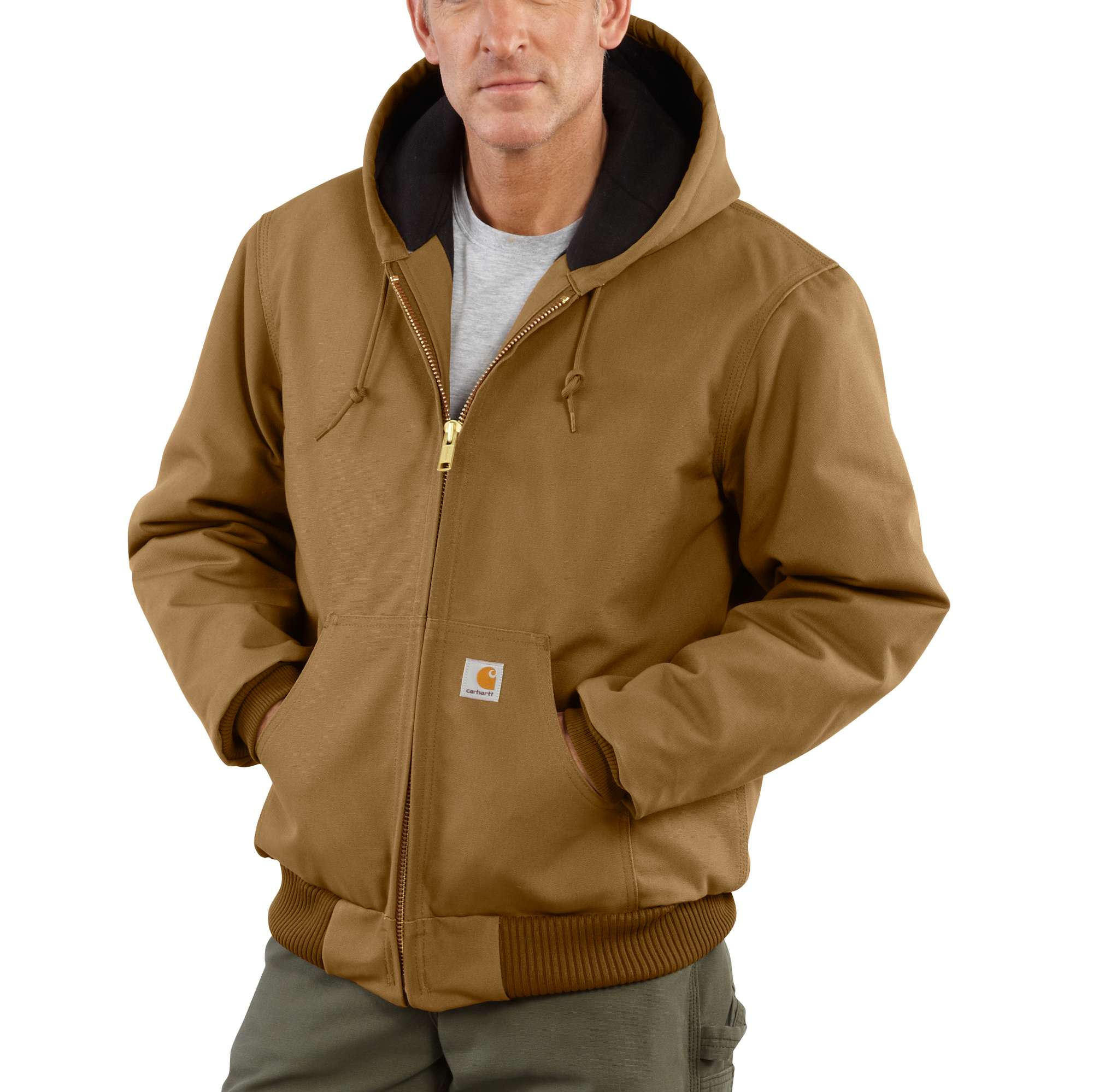 Quilted Jac Flannel Duck Active Lined J140Carhartt Men's HIYWE9D2
