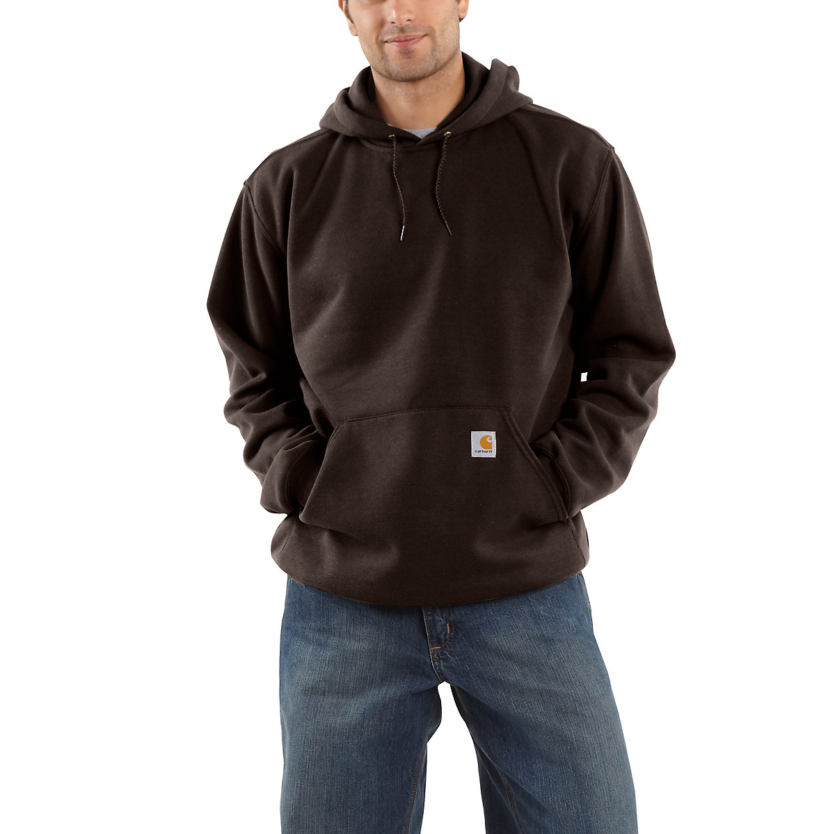 men 39 s midweight hooded pullover sweatshirt k121 carhartt. Black Bedroom Furniture Sets. Home Design Ideas