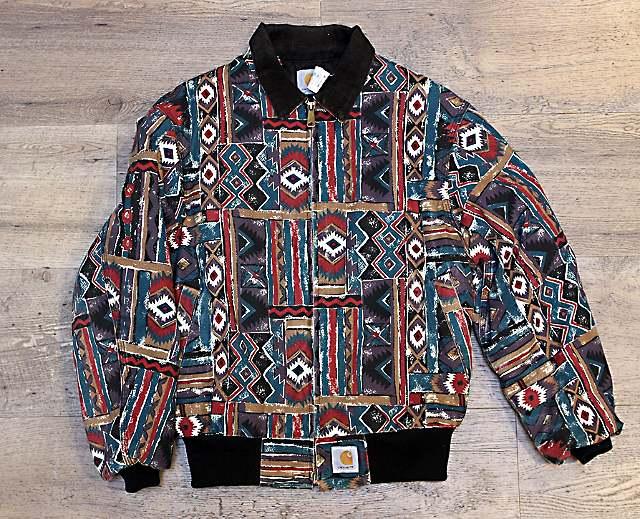 Multi Canvas Microloft Lined Aztec Jacket, 1994