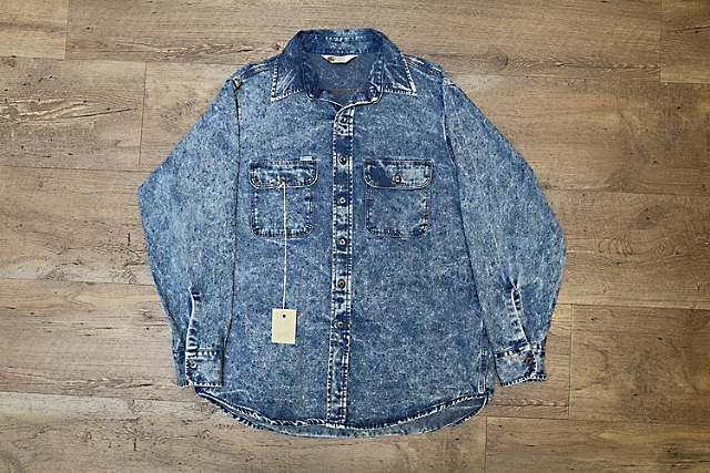 Blue Denim Acid Washed Work Shirt, circa 1992