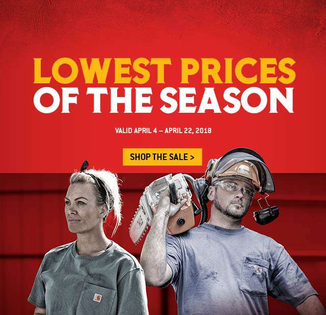 25 percent off, All heavy-duty and heavyweight K87 t-shirts and select shorts, valid April 4th to April 22nd 2018