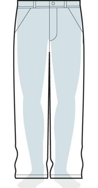 measurements men's loose fit pants