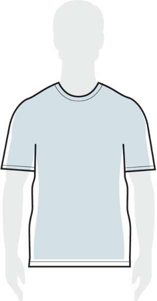 measurements men's loose shirt