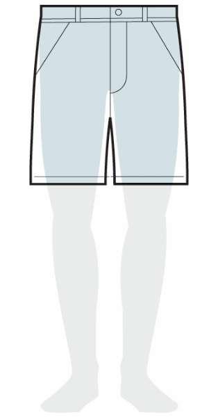 measurements women's slim fit shorts