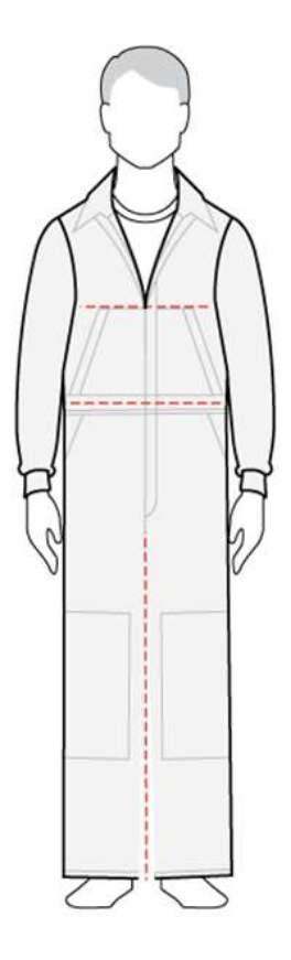 measure men's coverall