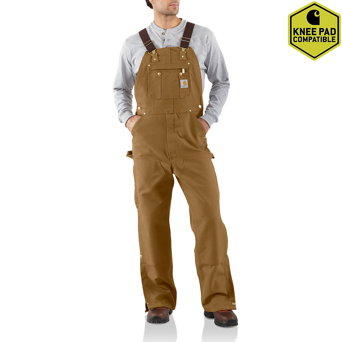 Men S Duck Zip To Thigh Bib Overall Unlined R37 Carhartt