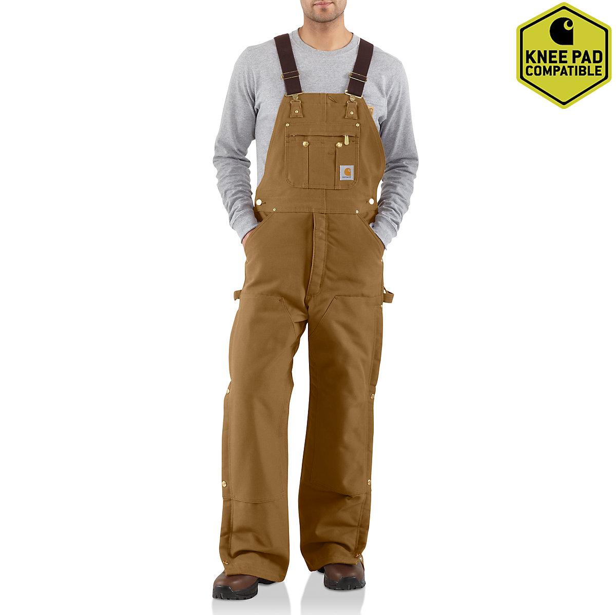Men S Duck Zip To Thigh Bib Overall Quilt Lined R41 Carhartt