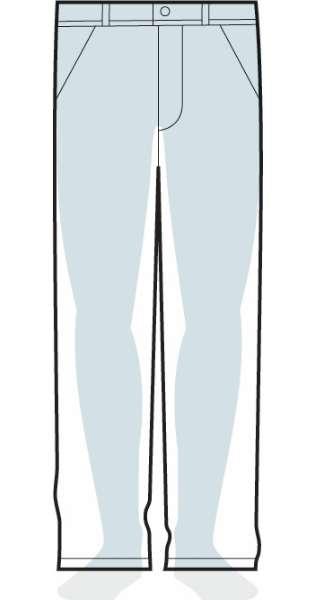 measurements men's relaxed fit pants