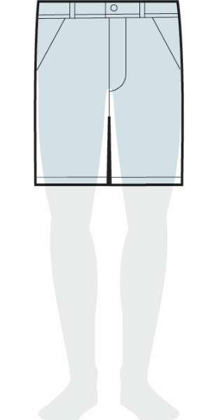 measurements women's original fit shorts