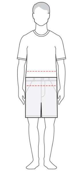 measure men's shorts