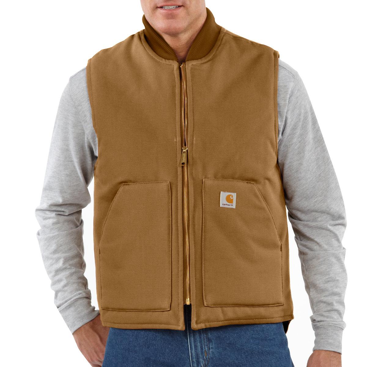 Men S Duck Vest Arctic Quilt Lined V01 Carhartt