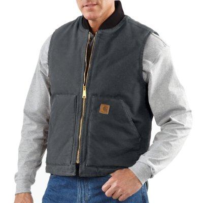 Carhartt Men's Shadow Sandstone Vest / Arctic Quilt Lined - front ...