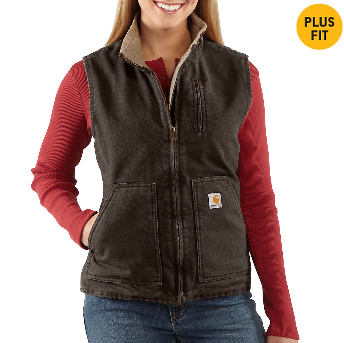 Maternity neck men lined sandstone mock womenu0027s carhartt vest sherpa fabric for girls
