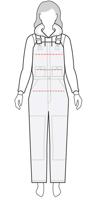 Lined Bib Overall Model