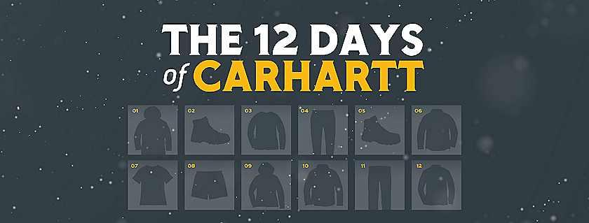the 12 days of carhartt