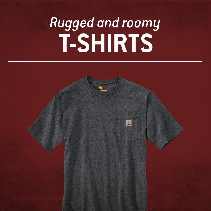 Rugged and roomy t-shirts