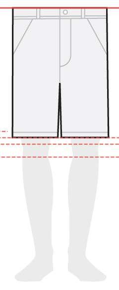 measurements men's shorts 10 inches