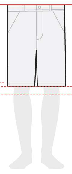 measurements men's shorts 11 inches