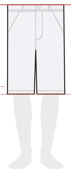 measurements men's shorts 12 inches