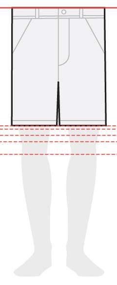 measurements men's shorts 8 inches