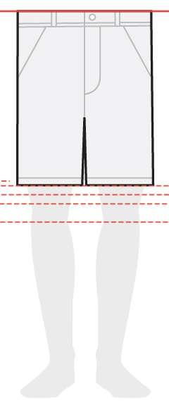 measurements men's shorts 9 inches