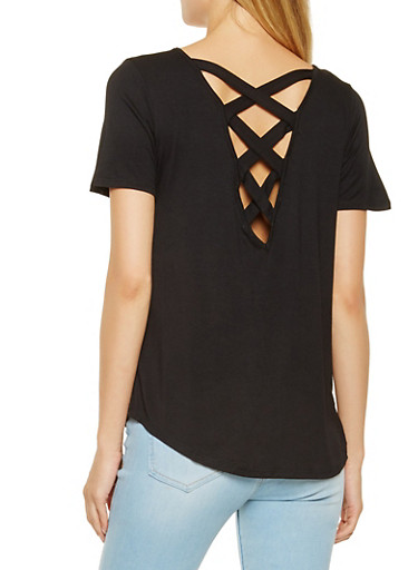 Caged Back Tee | Tuggl