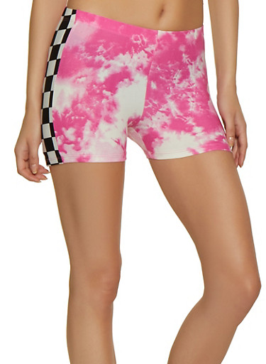 Tie Dye Soft Knit Shorts,PINK,large