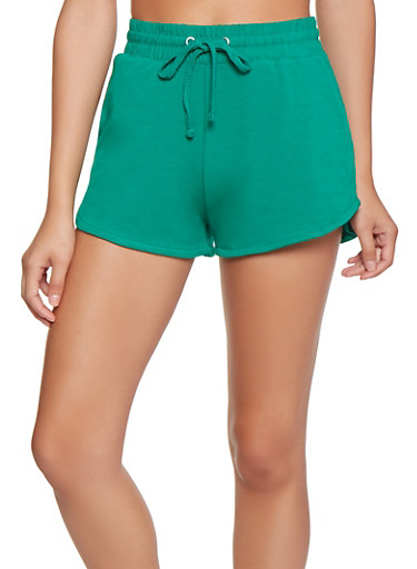 Solid Shorts,KELLY GREEN,large
