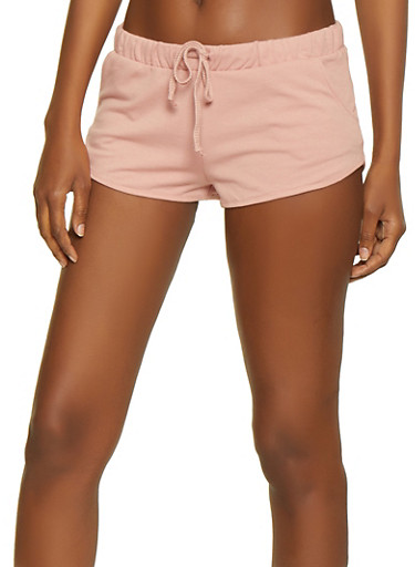 French Terry Dolphin Shorts | 0056054264640,MAUVE,large