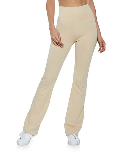 Flared Yoga Pants,TAN,large
