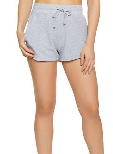 French Terry Dolphin Shorts | 0056054268291,HEATHER,large