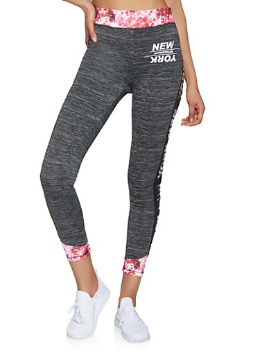 New York Activewear Leggings,CHARCOAL,large
