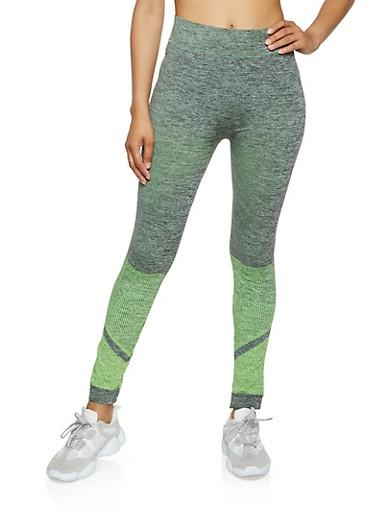 Color Block Active Leggings | 0058038347881,LIME,large